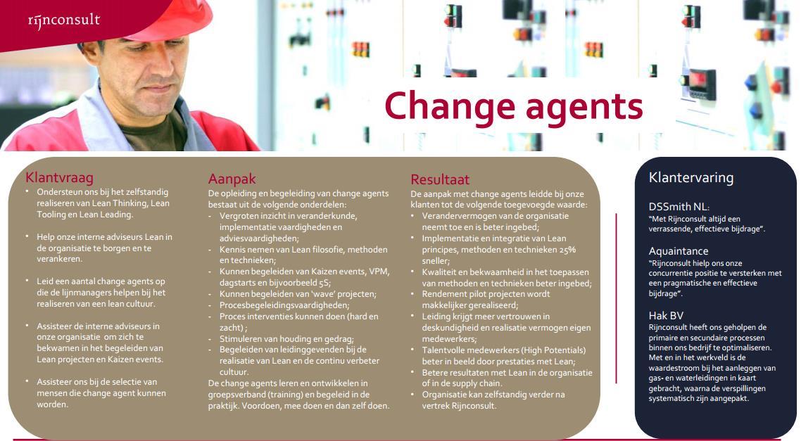 change agent in industrie