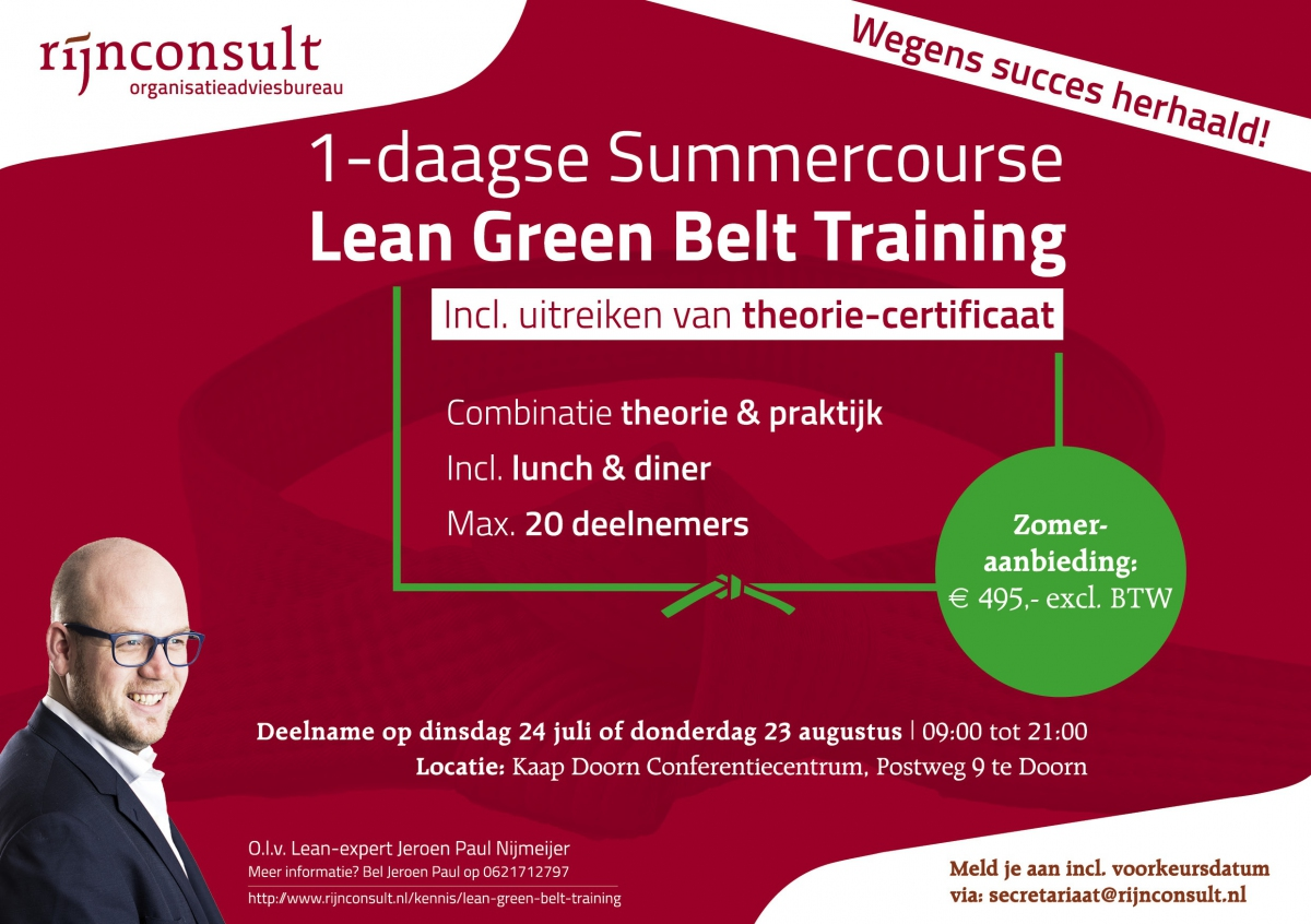 lean green belt summercourse