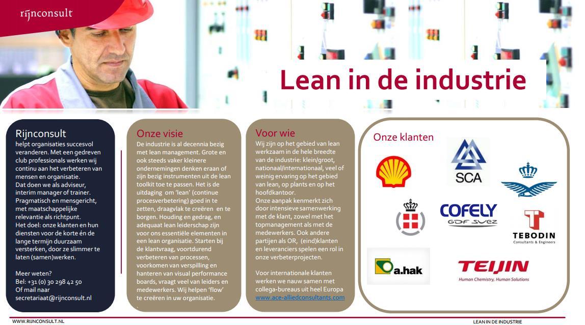 lean industrie