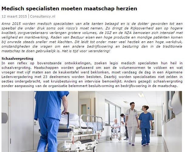 medisch specialisten in maatschap