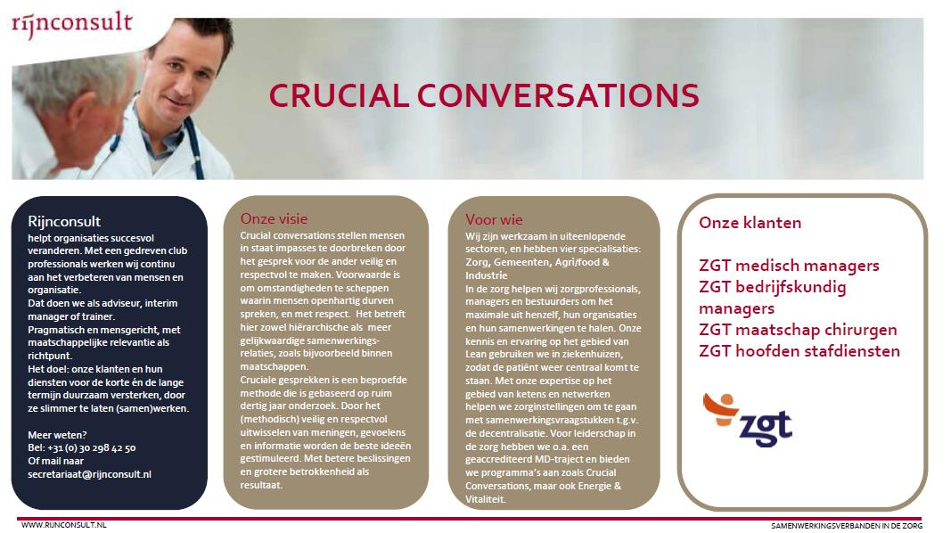 crucial conversations zorg